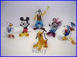 Swarovski Disney 6 Pc Set Mickey & Minnie Mouse Donald Daisy Goofy Pluto Bnib