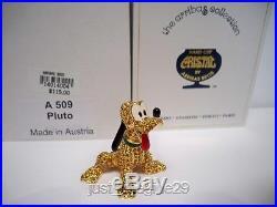 Swarovski Disney Arribas Jeweled Pluto Bnib Retired Very Rare