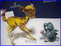 Swarovski Disney Bambi & Thumper Color Version Set 5004688 & 5004689 Bnib