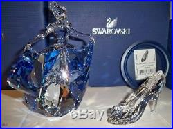 Swarovski Disney Cinderella & Slipper Last One Very Rare 5089525 5035515