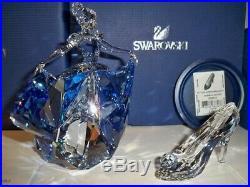 Swarovski Disney Cinderella With Slipper Very Rare 5089525 & 5035515 Bnib