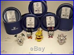 Swarovski Disney Cuties Collection Set Mickey Minnie Pooh Lucky & Marie Bnib