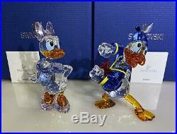 Swarovski Disney Donald Duck & Daisy Duck 5063676 & 5115334 Nib