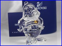 Swarovski Disney Happy Dwarf Retired 2011 Mib #1003689