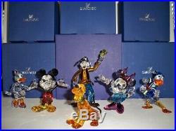 Swarovski Disney Set Mickey & Minnie Mouse Donald & Daisy Duck Goofy Pluto Bnib