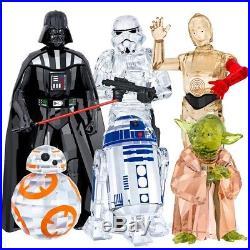 Swarovski Disney Star Wars Darth Vader, Yoda, Storm Trooper, Bb-8, C-3po, R2-d2 Set