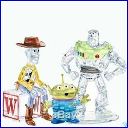 Swarovski Disney Toy Story 3PC BUZZ LIGHTYEAR SHERIFF WOODY PIZZA PLANET ALIEN