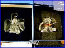 Swarovski & Disney Walt Crystal Figurine Dumbos & Timothy collection /BOX/COA