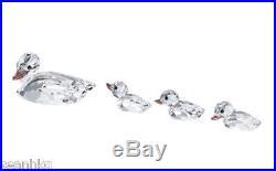 Swarovski Duck (Set Of 4) Mother Duck & 3 Little Duck Crystal Figurine 5004695