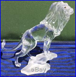 Swarovski Faceted Crystal King Lion Figurine, Rare Encounters Series, Retired
