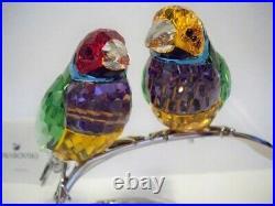 Swarovski Gouldian Finches 1141675 / 9600 000 186 Retired Bnib
