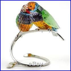 Swarovski Gouldian Finches 1141675 Bargain Genuine Crystal Birds Figurines Used