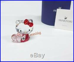 Swarovski Hello Kitty Pink Heart, Love Japanese Cat Crystal Authentic 5135886
