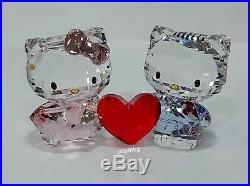 Swarovski Hello Kitty and Dear Daniel, Red Heart Crystal Authentic MIB 5428570