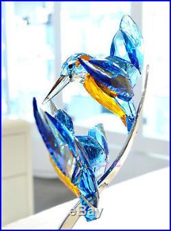 Swarovski Kingfishers Bird Blue Pair Garden Brilliant 5136835 Brand New In Box