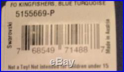 Swarovski Kingfishers Turquoise Birds Figurine No. 5155669-P NIB LAST ONE