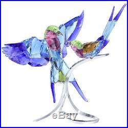 Swarovski Lilac-Breasted Rollers #5258370 Home Decor Crystal Figurine Birds