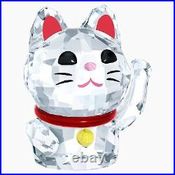 Swarovski Lucky Cat Maneki Neko Feng Shui Kitten Wealth Crystal Figurine 5301582