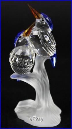 Swarovski Malchite Kingfishers Tropical Birds 623323 Crystal Figurine NR JWD