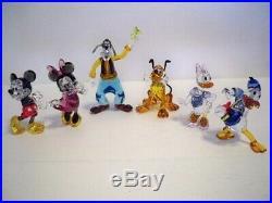 Swarovski Mickey Mouse Minnie Mouse Donald Duck Daisy Duck Goofy Pluto Set Bnib