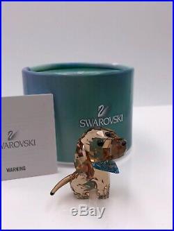 Swarovski Puppy- Milo The Dachshund Retired 2016 Mib #506336