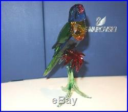 Swarovski RAINBOW LORIKEET Parrot Figurine #5136832 SIGNED BY ARTIST NIB