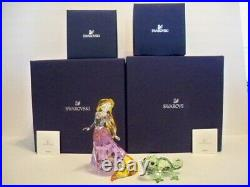 Swarovski Rapunzel & Pascal Animated Film Tangled 5301564 5301565 Retired Bnib