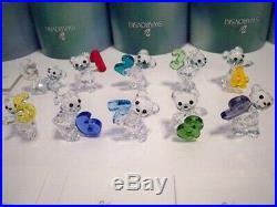 Swarovski Rare Kris Bear Number 0 1 2 3 4 5 6 7 8 9 Complete 10 Ten Piece Set