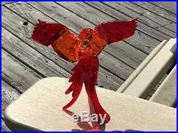 Swarovski Red Parrots Paradise Birds Signed #5136809 Nib