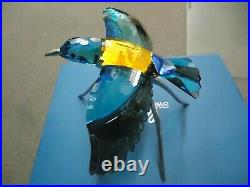 Swarovski SCS Austria Crystal Blue Roller Paradise Bird 957568 Figurine