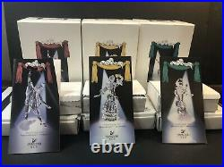Swarovski SCS Masquerade Trilogy 1999 2000 2001 MINT withBoxes Stands Plaques
