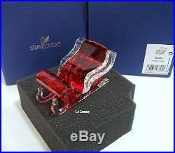 Swarovski Santa's Sleigh, Christmas Reindeer Crystal Authentic MIB 5223691