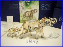 Swarovski Scs 2013 Ae Cinta & Ltd Ed Young Elephant 1137207 1142862 Bnib Coa