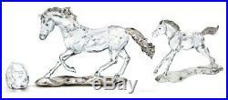 Swarovski Scs 2014 Ae Esperanza Criollo Horse Set With Foal & Paperweight Bnib