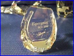 Swarovski Scs 2014 Esperanza Horse & Foal & Paperweight 5004728 5004729 5004732