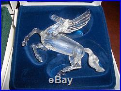 Swarovski Scs Crystal Unicorn Dragon Pegasus Signed Fabulous Creatures Set Nib