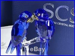 Swarovski Scs Hyacinth Macaws 2014 Mib #5004730