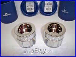 Swarovski Set Of 2 Crystalline Large Tea Lights 1016654 Bnib