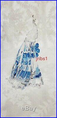 Swarovski Signed 2015 Scs White Peacock 5063695 Arya Crystal Figurine
