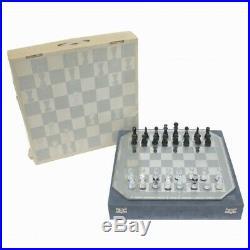 Swarovski Silver Crystal Chess Set Comes with the original Swarovski case / box