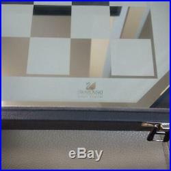 Swarovski Silver Crystal Chess Set Comes with the original Swarovski with Box