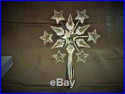 Swarovski Silver & Crystal Christmas Tree Topper Brand New In Box