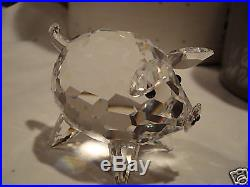Swarovski Silver Crystal Large Pig Retired'87 MIB