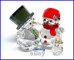 Swarovski Snowman Family, Multi Colors Crystal Authentic MIB 5533948