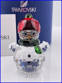 Swarovski Snowman With Red Hat Nib #5288205