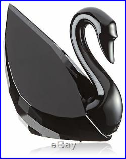Swarovski Soulmates SWAN Jet Black Large Crystal Figurine 1098643 New w Gift Box