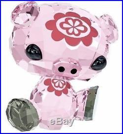 Swarovski The Lovlots #5004488 Bu Bu The Pig Bnib Zodiac Pink Crystal Flower Fs