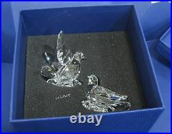 Swarovski Turtledoves, Love Birds Clear Crystal Blossom Bases, Figurine -5004726