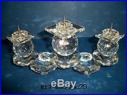 Swarovski Very Rare European Pin Style Candleholder Retired 7600115000 / 010054