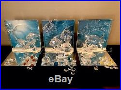 Swarovski WONDERS OF THE SEA New MIB Trilogy Set Plus Trilogy Extras